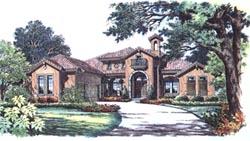 Mediterranean Style House Plans Plan: 28-103
