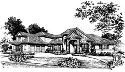 French-Country Style Floor Plans Plan: 28-109