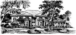Spanish Style House Plans Plan: 28-112