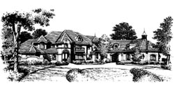 French-Country Style Floor Plans Plan: 28-114