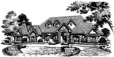 French-Country Style House Plans Plan: 28-119