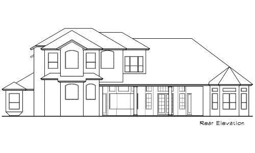 Rear Elevation Plan: 28-126