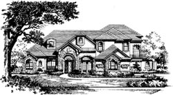 French-Country Style House Plans Plan: 28-126