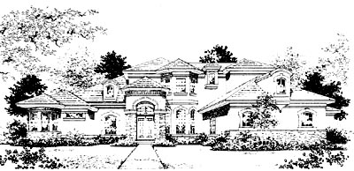 French-Country Style House Plans Plan: 28-127