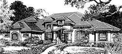 Mediterranean Style House Plans Plan: 28-128