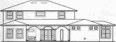 Rear Elevation Plan: 28-130