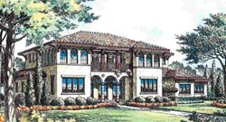 Spanish Style Home Design Plan: 28-140