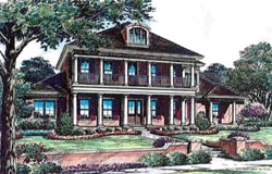 Plantation Style Floor Plans Plan: 28-141