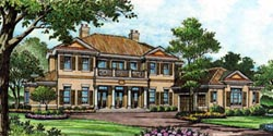 Southern Style Home Design Plan: 28-143