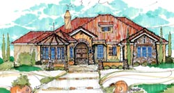 Florida Style Home Design Plan: 28-144