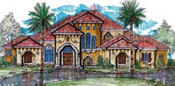 Spanish Style House Plans 28-146