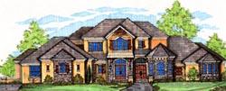 European Style House Plans Plan: 28-161