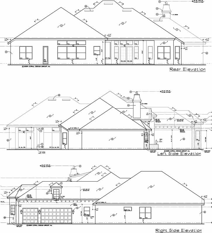 Rear Elevation Plan: 28-167