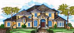 French-Country Style Home Design Plan: 28-171