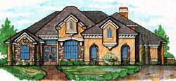 Mediterranean Style Home Design 28-176