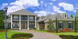 Plantation Style Home Design Plan: 28-184