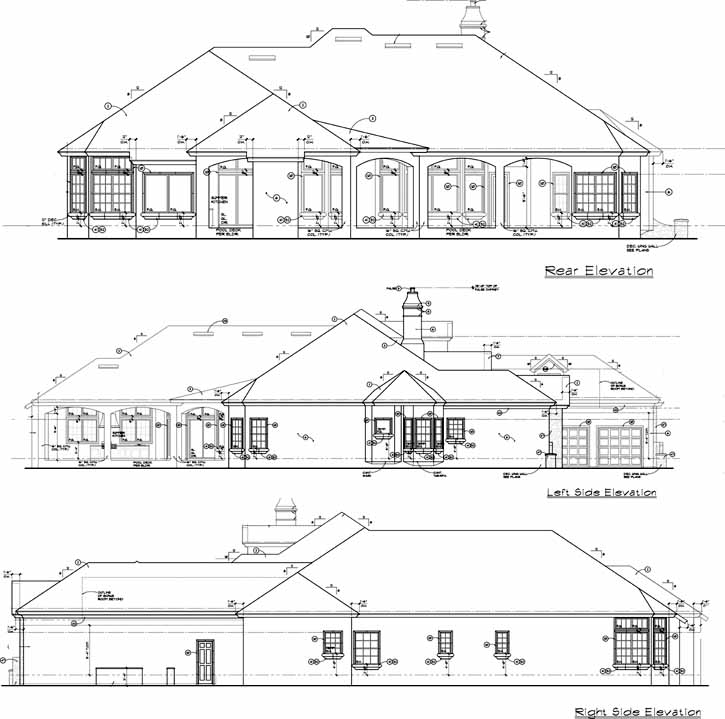 Rear Elevation Plan: 28-187