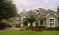 French-Country Style Home Design Plan: 28-195