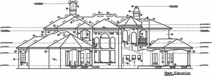 Rear Elevation Plan: 28-201