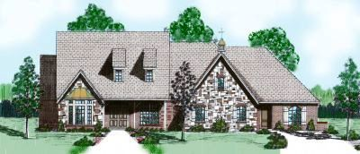 English-country Style House Plans Plan: 3-102