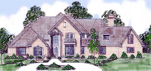 English-country Style House Plans Plan: 3-103