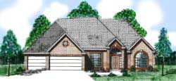 European Style House Plans Plan: 3-105