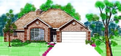 Traditional Style Home Design Plan: 3-106