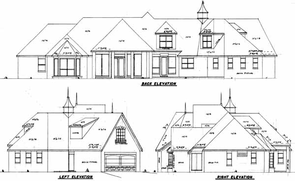 Rear Elevation Plan: 3-108