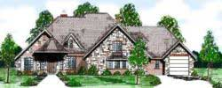 English-Country Style Floor Plans Plan: 3-109