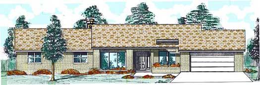 Contemporary Style Home Design Plan: 3-114