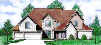 French-country Style House Plans Plan: 3-115