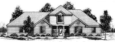 Traditional Style Home Design Plan: 3-117