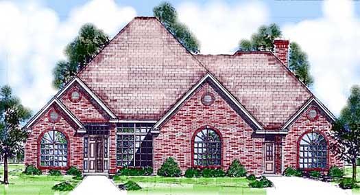 European Style Home Design Plan: 3-118