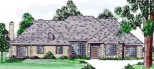 Traditional Style House Plans Plan: 3-119