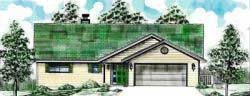 Traditional Style Home Design Plan: 3-121
