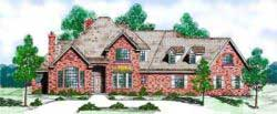 Traditional Style Home Design Plan: 3-123