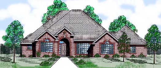 Traditional Style Home Design 3-127