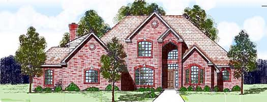 Traditional Style Home Design Plan: 3-128