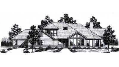 Contemporary Style House Plans Plan: 3-130