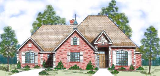 Traditional Style Home Design 3-131
