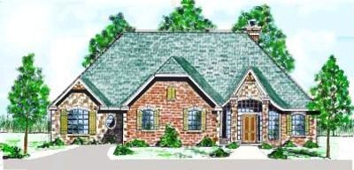 French-country Style House Plans Plan: 3-132