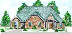 French-Country Style Floor Plans Plan: 3-132