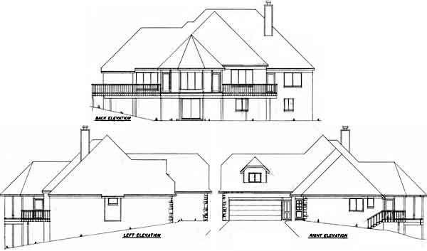 Rear Elevation Plan: 3-134