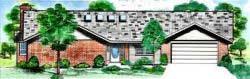 Ranch Style Floor Plans Plan: 3-135