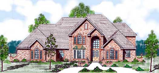Traditional Style Home Design Plan: 3-136