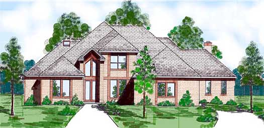 Contemporary Style Home Design Plan: 3-138