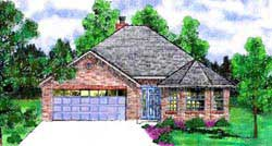Traditional Style House Plans Plan: 3-147