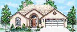 Traditional Style Home Design Plan: 3-149