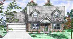 Country Style Home Design Plan: 3-150
