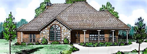 Country Style Floor Plans Plan: 3-154
